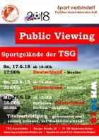 WM 2018: Public Viewing bei der TSG