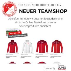 +++ Neuer Teamshop für unsere Vereinsmitglieder +++